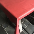 Coated Table linen bordeaux red
