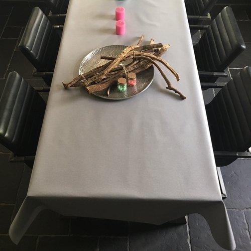 Beschichtete Tischleinen grau taupe