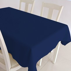 Gecoat tafelkleed Maly - donker blauw