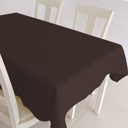 Coated Table textile Maly chocolate brown
