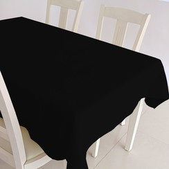 Gecoat tafelkleed Maly - zwart