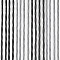 Door curtain Victoria 90x220 cm black / silver duo