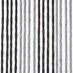 Deurgordijn Victoria  90x220 cm zwart/zilver duo