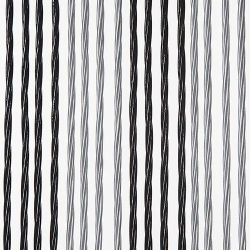 Türvorhang Victoria 90x220 cm schwarz / silber Duo