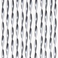 Deurgordijn Opal  90x220 cm zilver/wit mix