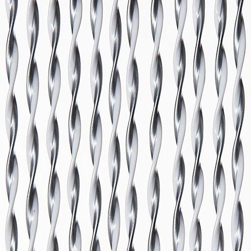 Türvorhang Opal 90x220 cm Silber / Weiß Mischung