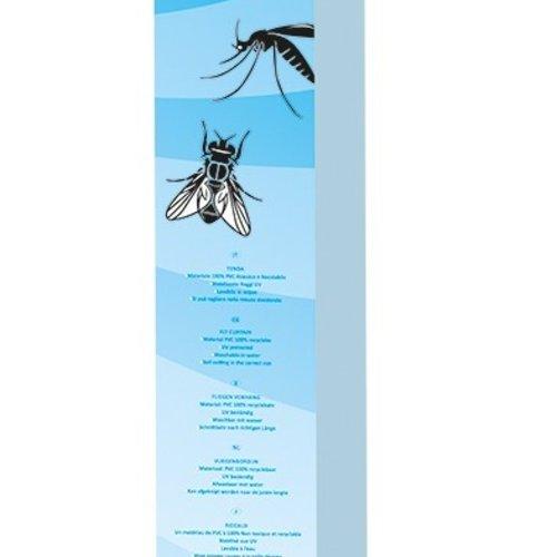 Vliegengordijn-deurgordijn- Opal  90x220 cm zilver/wit mix