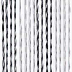 Deurgordijn Victoria  100x240 cm grijs/wit duo