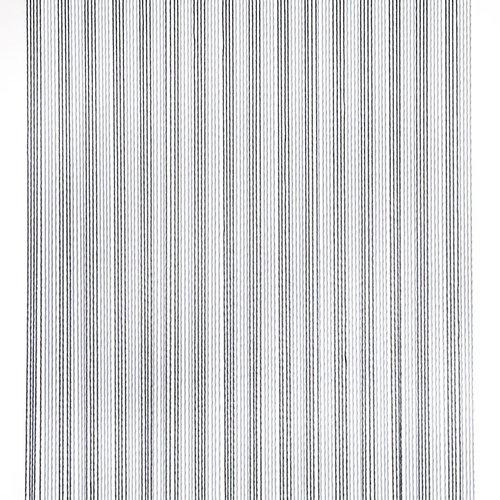 Türvorhang Victoria 100x240 cm grau / weiß Duo
