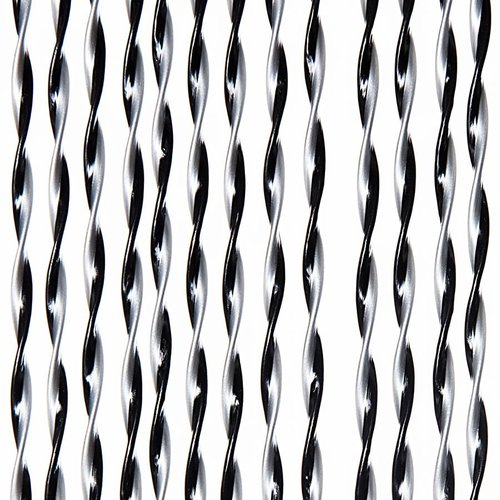Door curtain Opal 100x240 cm silver / black mix