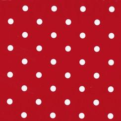 Plakfolie dots rood verpakt per 6 rollen