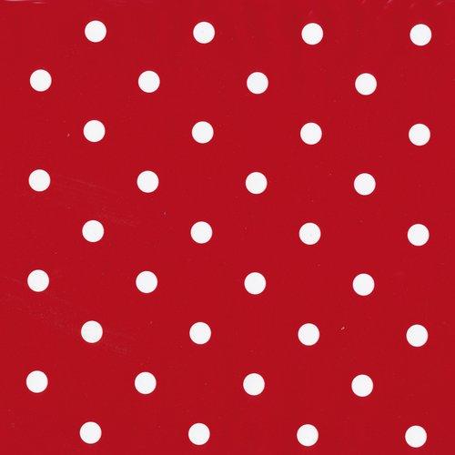 Klebefolien punkte rot verpackt pro 6 Rollen