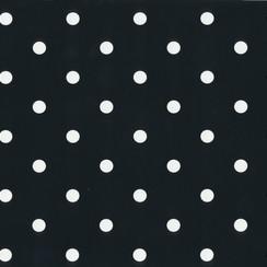 Plakfolie dots zwart verpakt per 6 rollen