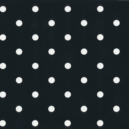 Plakfolie-Plakplastic dots zwart MINIMALE BESTELEENHEID 6 STUKS