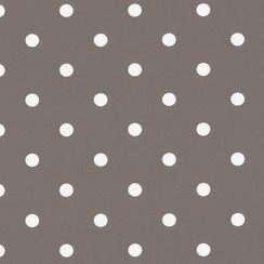 Plakfolie dots taupe verpakt per 6 rollen