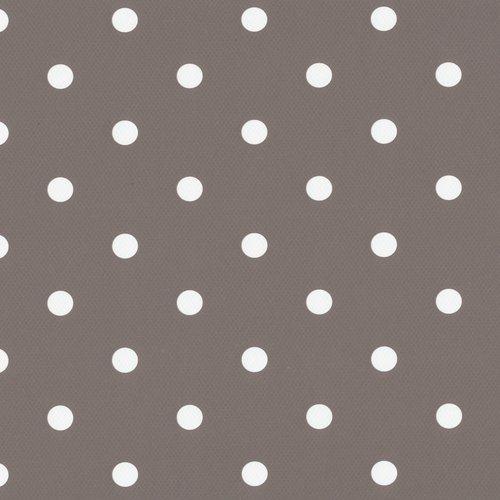 Plakfolie-Plakplastic dots taupe MINIMALE BESTELEENHEID 6 STUKS