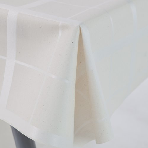 Coated Table textile Lys cream