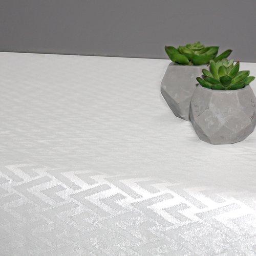 Table textile Polyline Catania white