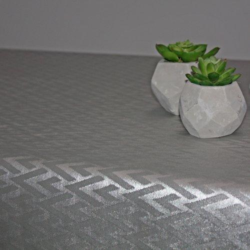 Tischtextil Polylinie Catania Silber