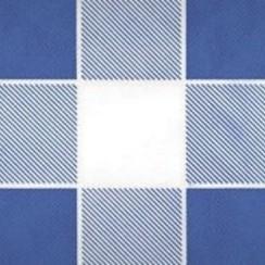 Damastpapier op rol 118 cm x 10 m Ruit blauw 25 stuks