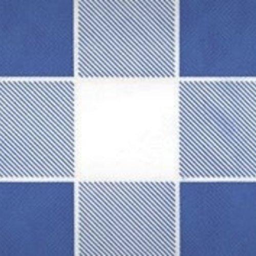 Damastpapier auf Rolle 118 cm x 10 m Kariertes Blau
