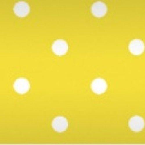Tischdecke auf Rolle Damast 118 cm x 10 mtr. Punkt gelb