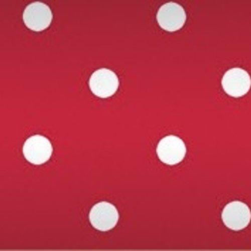 Tafelpapier op rol Damast 118 cm x 10 mtr. Stip rood MINIMALE BESTELEENHEID 25 STUKS