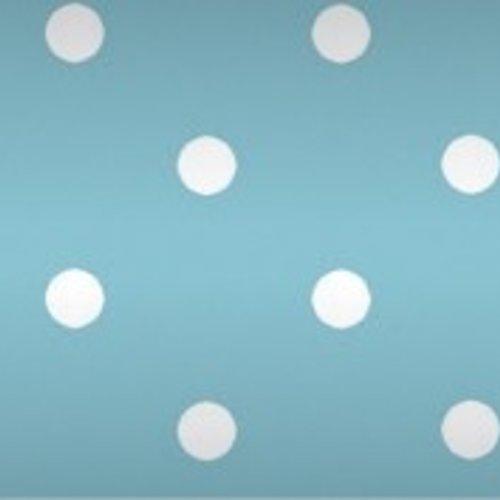 Tischpapier auf einer Rolle Damast 118 cm x 10 mtr. Punkt hellblau