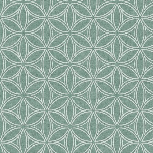 PVC oilcloth Orbit green