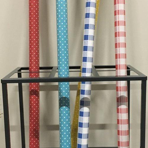 Sales rack for damask paper