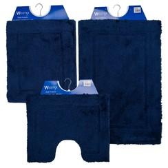 Badmat 60-42 60x90cm Uni blauw