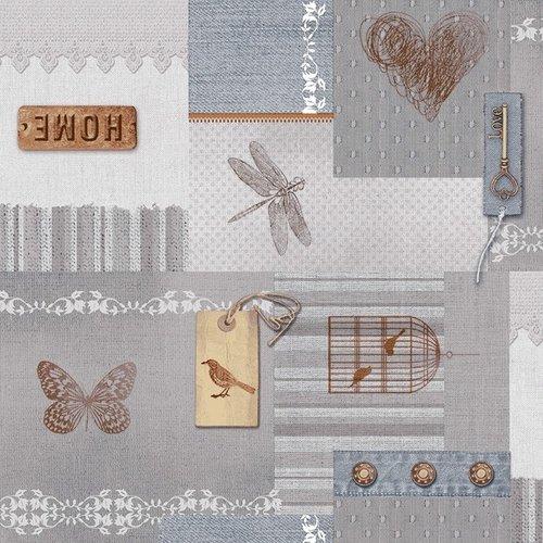 PVC tablecloth Home ecru