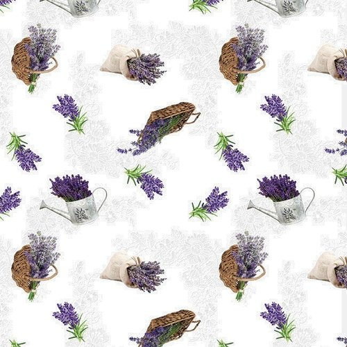 PVC oilcloth Lavender