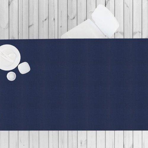 Beschichtete Tischtextil Linado blau