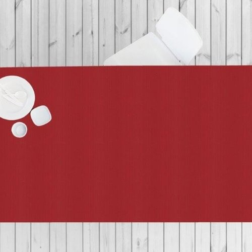 Gecoat tafeltextiel Linado - rood