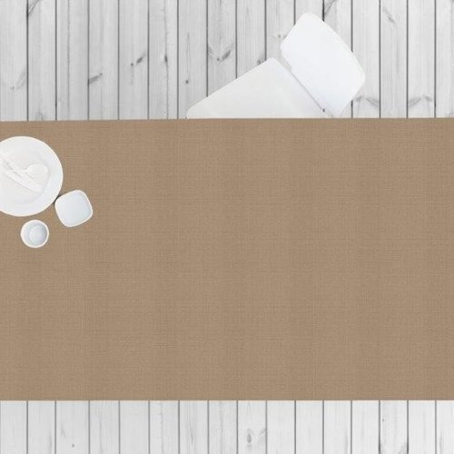 Coated Table textile Linado beige