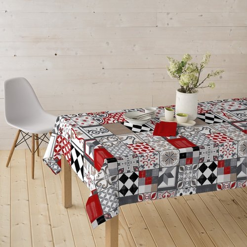 Beschichtete Tisch Textil Piatto rot