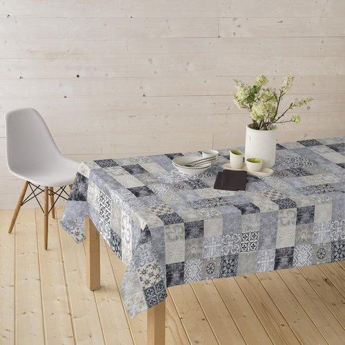 Coated Table textile Castillo gray