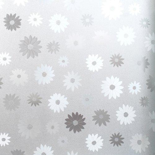 Raamfolie statisch-anti inkijk- bloemen 45cm x 2 meter