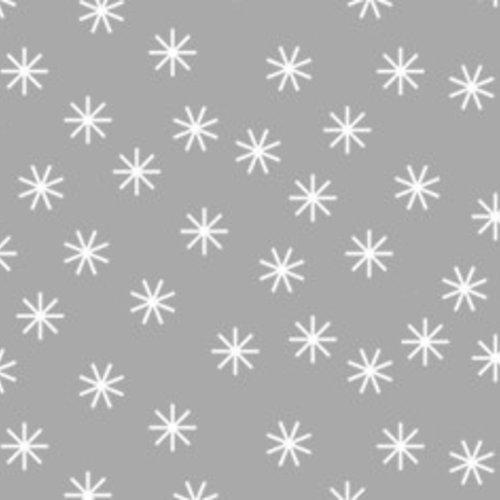 Tafelpapier op rol Damast 118 cm x 10 mtr. Kerst ster zilver