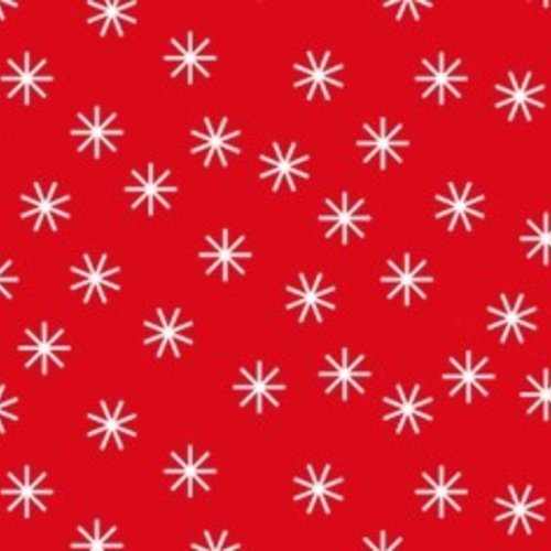 Damask paper on roll 118 cm x 10 m Christmas star red / white