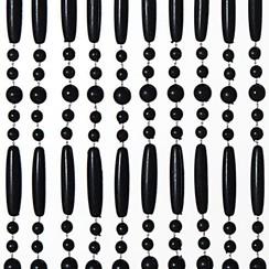 Deurgordijn Perla 90x220cm zwart