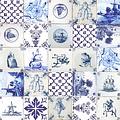PVC Oilcloth Holland tiles
