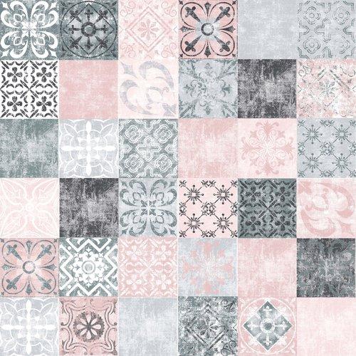 Gecoat tafeltextiel Castillo - roze