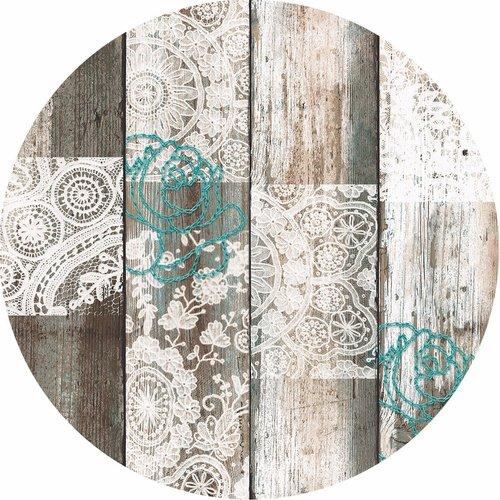 Romantic Winter PVC tablecloth around 160 cm