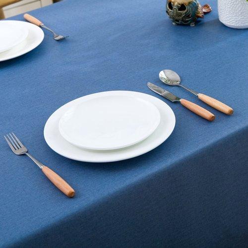 Oilcloth polyester Uni blue