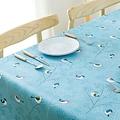 Wachstuch Polyester Vogelblau