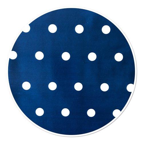 PVC tablecloth dot blue around 160 cm
