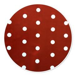 Rond PVC tafelkleed Stip rood - 160cm