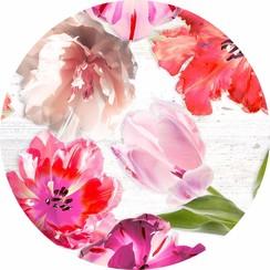 PVC Tafelkleed Tulpen rond 160 cm